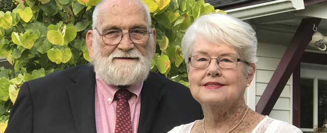 Our patient Ginny with her husband Dick